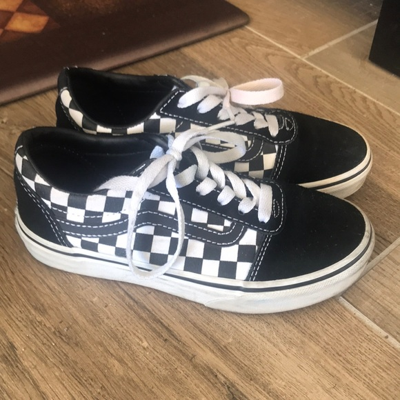 Vans Shoes | Black And White Kids Size